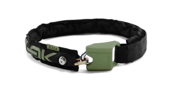 Hiplok Lite Kettenschloss schwarz/armee grün